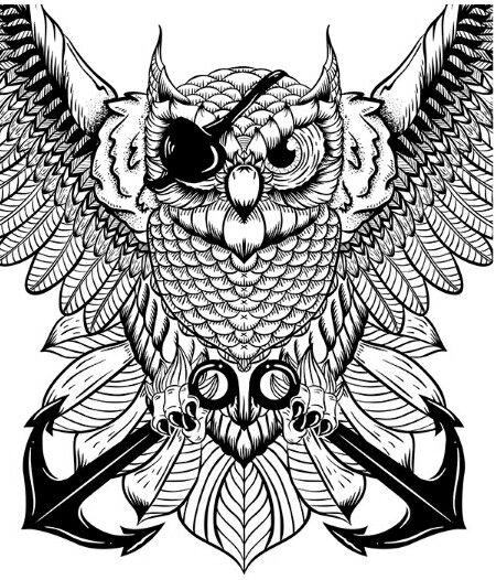 gothic coloring books for adults steampunk owl adult colouring owls birds zentangles