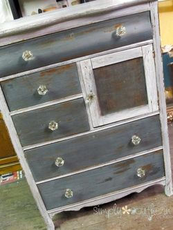 Real Milk Paint Co Peacock Blue And White Hatbox Dresser Refinish New To Simp