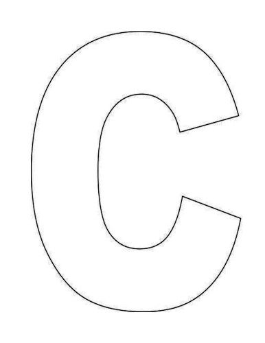 Crazy image within letter c printable template