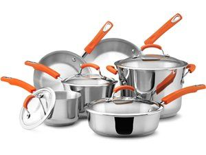 10-pc. Stainless Steel II Cookware Set by Rachael Ray by Rachael Ray at Cooking.com