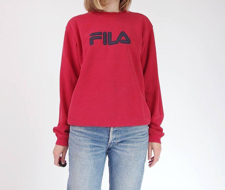 90s Fila old-school sportswear sweatshirt / size S-L by Only1Copy on Etsy