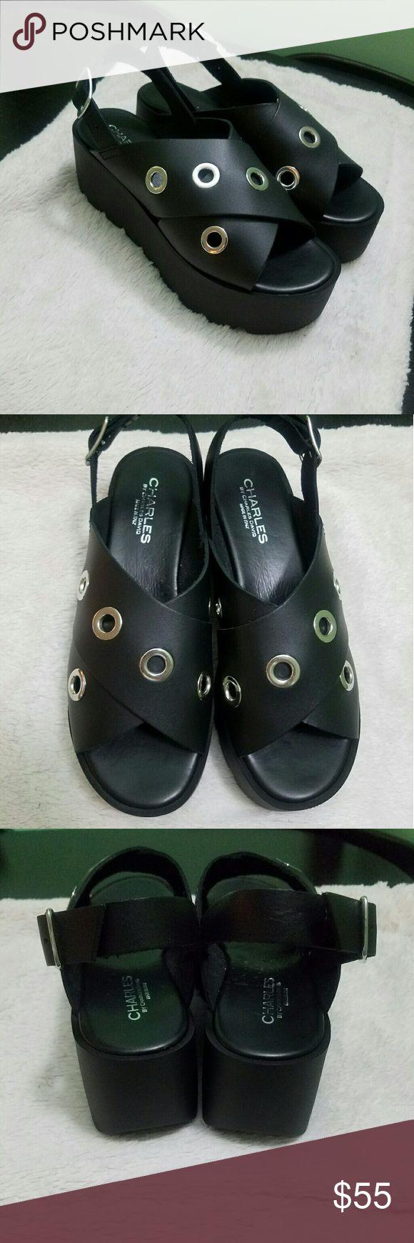 Charles david platform sandals Nwob. Charles by Charles David sandals. Charles David Shoes Sandals
