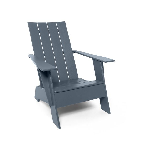 Available in 10 environmentally friendly colors, the flat compact resin Adirondack chair from Loll Designs will make the modern lollygager feel right at home.