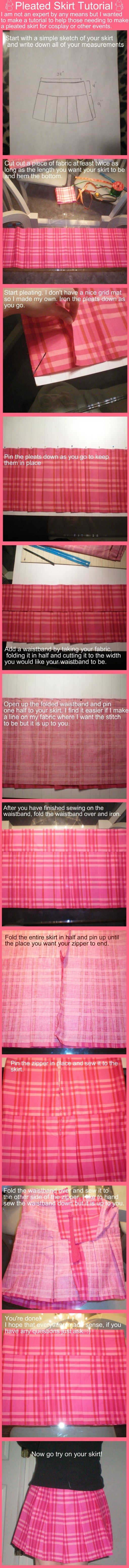 Pleated School Skirt Tutorial by stevoluvmunchkin on deviantART