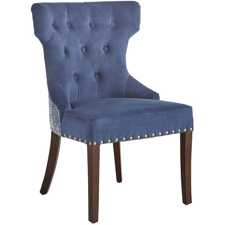 Blue Hourglass Dining Chair Indigo Hardwood Home