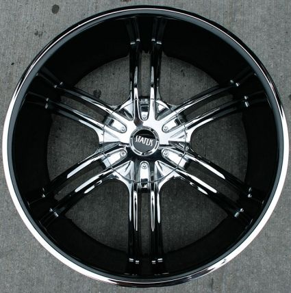 black and chrome rims | ... inch chrome w black cover automotive rims 22 wheels set of four