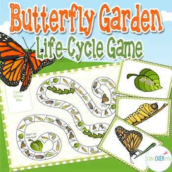 FREE! Butterfly Garden: A Life Cycle Game styled like Candyland. Both a file folder version and life-size version included!