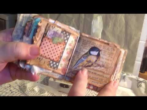 Vintage junk journal inside an altered wooden box - YouTube