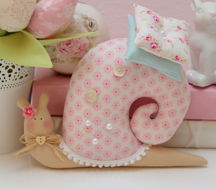 These fabric snail pillow are so cute for home or car decoration. Materials you may need: Fabric cloth Cardboard for pattern Poly filling Scissors Needle and thread Laces, ribbons Sew Cute Bunny Pillow Free Template – Click Here