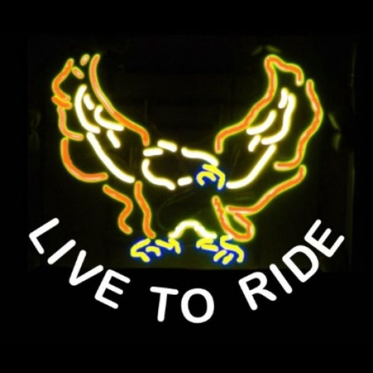 Neon Bar Sign - Live to Ride