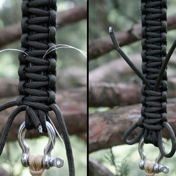 Paracord Bracelet Instructions | eHow   Good dental floss tip for hiding the ends when finishing