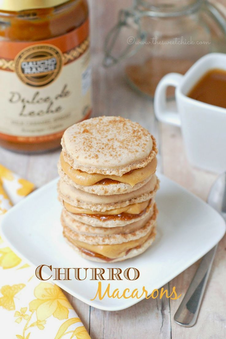 Churro Macarons by The Sweet Chick