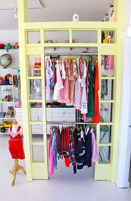 Shella Garcia recently opened a children's boutique for new and vintage clothing, toys and accessoriesin Long Beach, California. With a color palette akin to a bag of Jordan Almonds, there are some ideas here you could steal for your own child's room.
