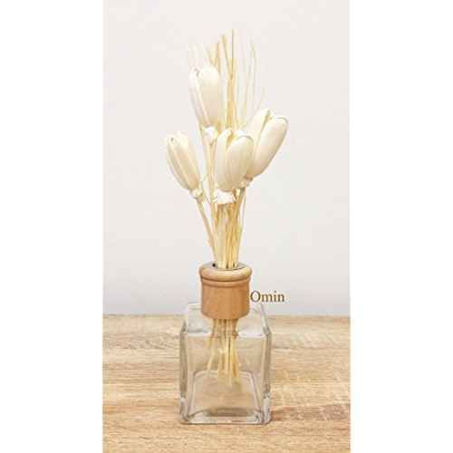 Omin Rattan Reed Diffuser Sticks Replacement with Tulip Flower Style Bouquet Natural Shape 9-10