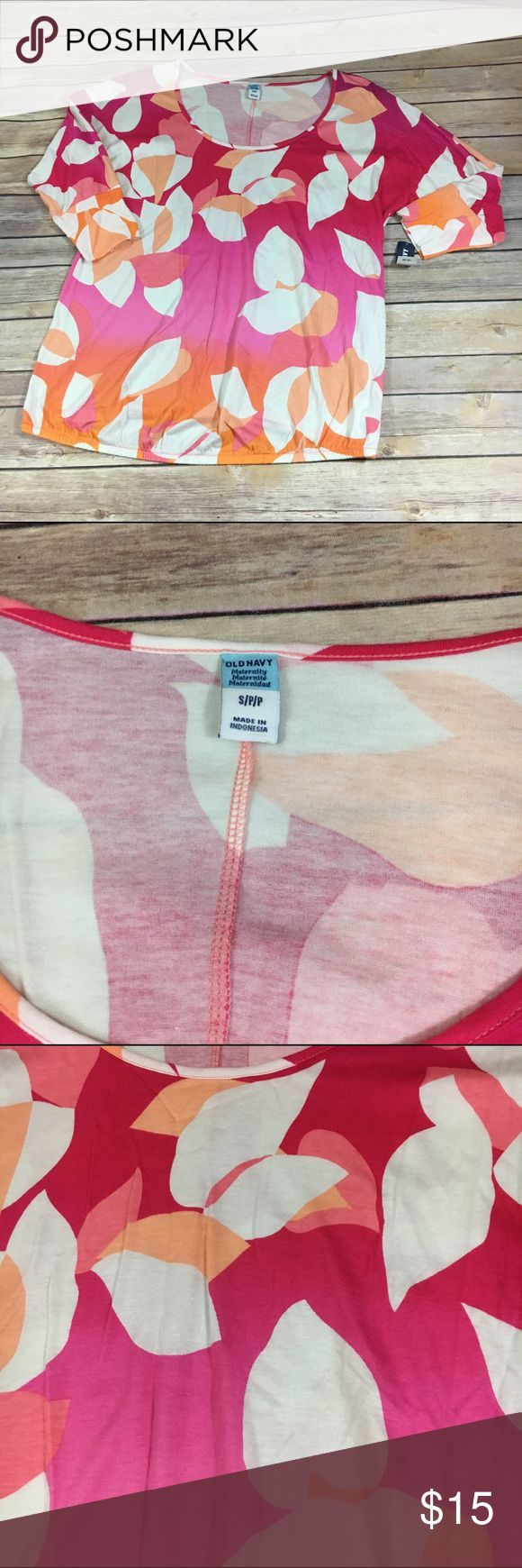 Old Navy Pink Ombre Maternity Top NEW NWT S Old Navy Pink Ombre Maternity Top NEW NWT S  Floral orange and multi pink raglan style top with elastic at waist.  New with tags.  #ombre #floral #pink #orange #raglan #new #Nwt #top #maternity #momtobe Old Navy Tops