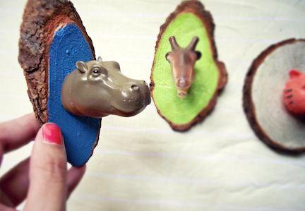 Fun magnets!   10 DIY Animal Heads to Make   Babble