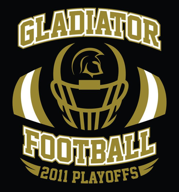 The Front Design Of The Gladiator Football Playoff T Shirts Available By  Pre Order