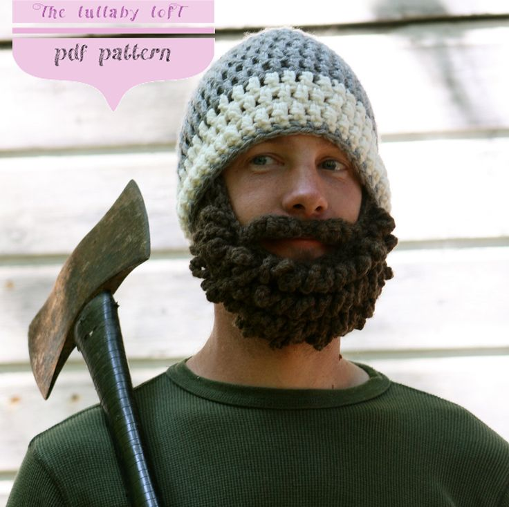 Ravelry: Beard Man Hat • Crochet w/ Photo Pattern pattern by Jual Hopkins of The lullaby lofT
