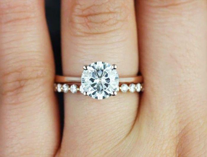Engagement Ring Photos That Blew Up On Pinterest Gold Wedding BandsWedding SetsDiamond
