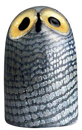 Iittala Birds of Toikka Mouthblown Glass Bird, Large Barn Owl