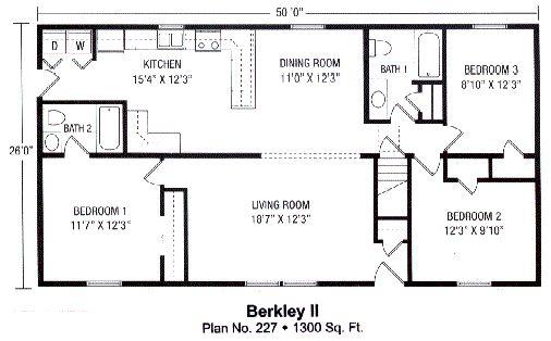 1300 Sq Foot Floor Plan Susquehanna Modular Homes
