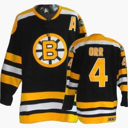 ... Authentic Vintage Jersey NHL Boston Bruins 4 Bobby Orr CCM Jersey Black  ... 78d3d960a