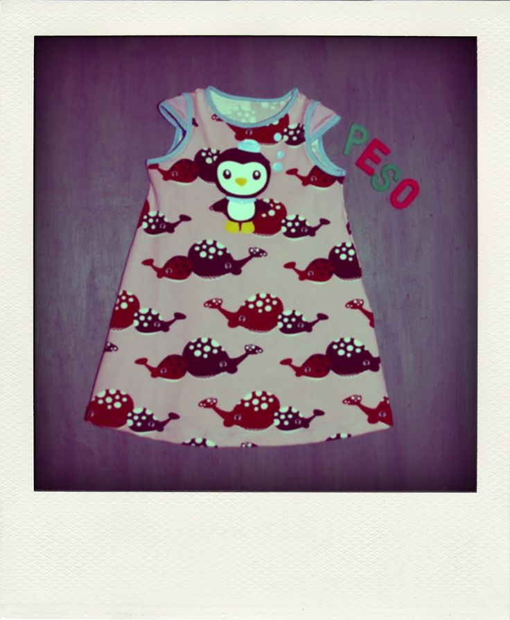 Octonauts dress. More pics at: http://kolttu.blogspot.fi/2014/05/peso-in-pink.html