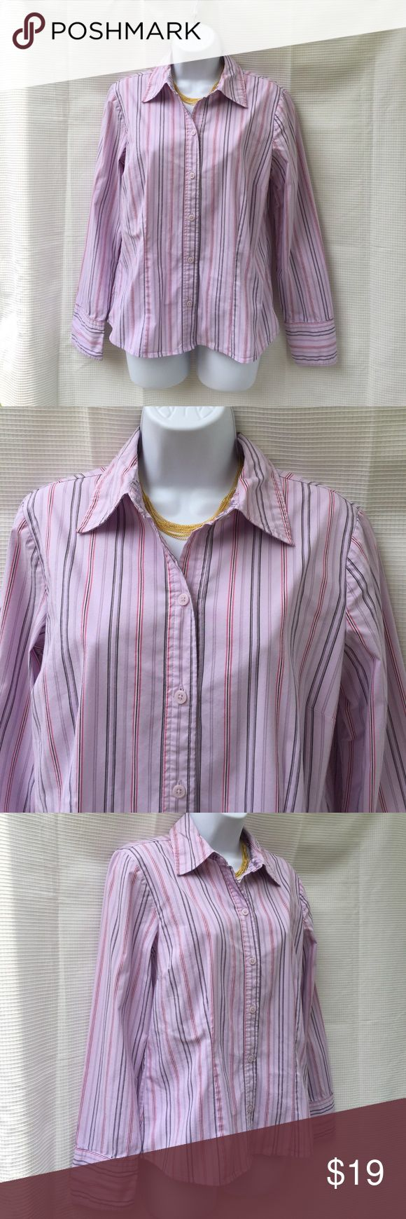 Old navy pink striped polo shirt ladies large Old Navy pink striped polo shirt. Size large. Perfect fit/stretch. Made in the Philippines. 62% cotton 34% nylon 4% spandex. Pre-loved in excellent condition. Women's Ladies Fashion. Check out my closet, we have a variety of women's, Victoria Secret, handbags 👜 purse 👛 Aerosoles, shoes 👠fashion jewelry, necklace, clothing, dress, Beauty, home 🏡 .  Ships via USPS. Smoke & Pet-Free. Offers 30% OFF bundle discount. Always a FREE GIFT 🎁 with…