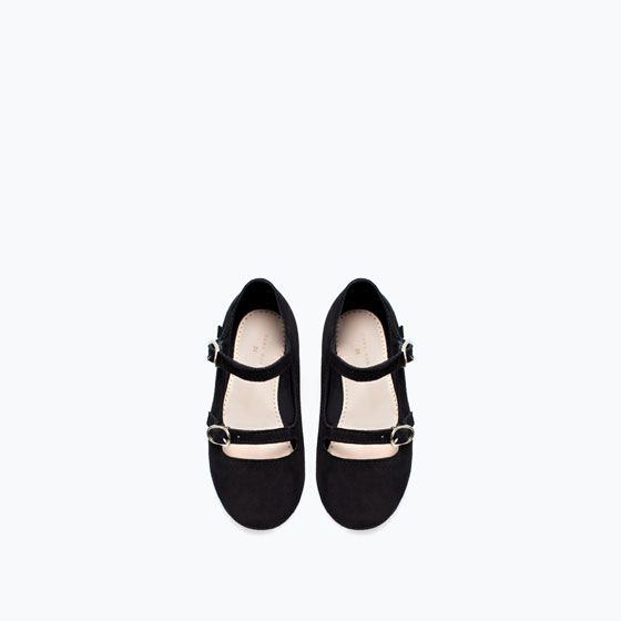 Double ankle strap leather ballet trap Zara Baby Girl AW 14