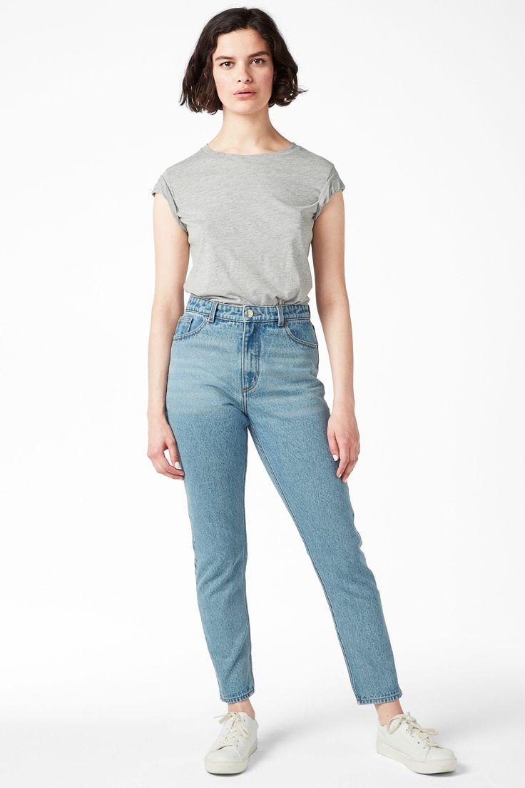 Kimomo mid blue - light blue - Jeans - Monki SI
