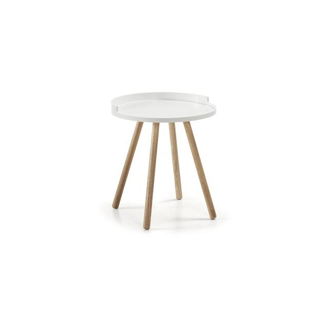 Table d'appoint Kurb, blanc KAVE HOME