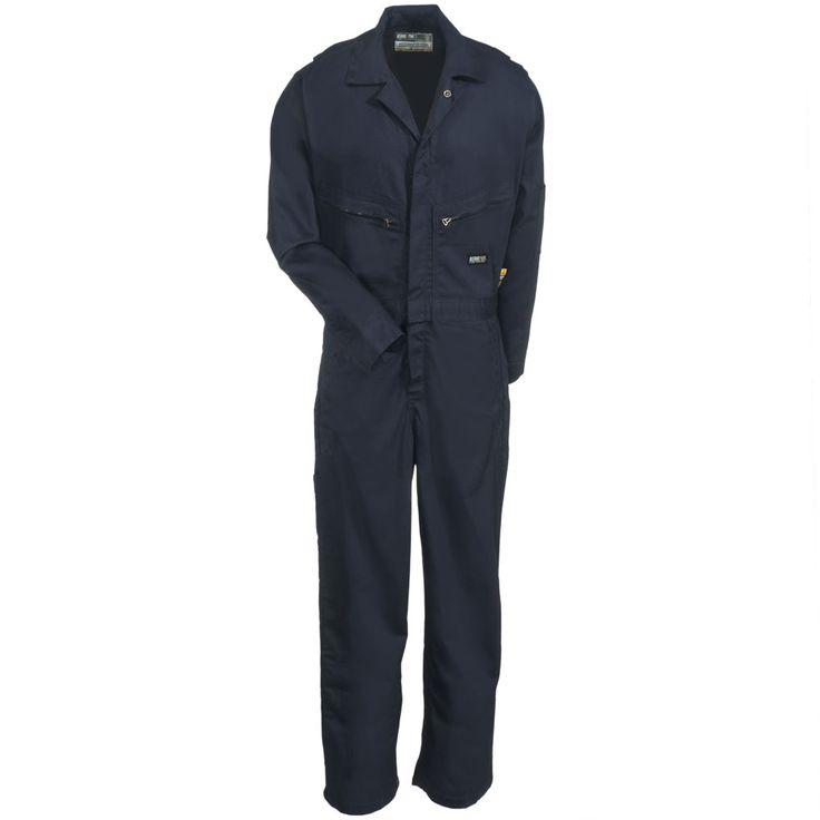 Berne Apparel Men's FRC04 NV FlameResistant Navy Blue