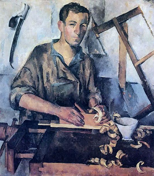 Александр Осмёркин «Столяр» 1921 г.