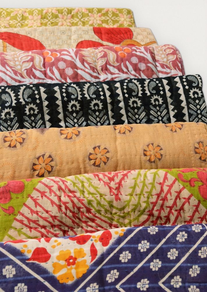 Recycled Sari Throws, No longer need those Red-Light-District clothes! - Ten Thousand Villages