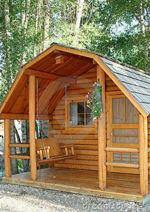 Free log porch swing plans woodworking projects plans for Log cabin porch
