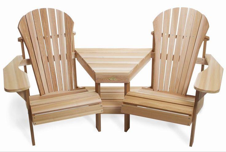 Adirondack chair design for patio or garden