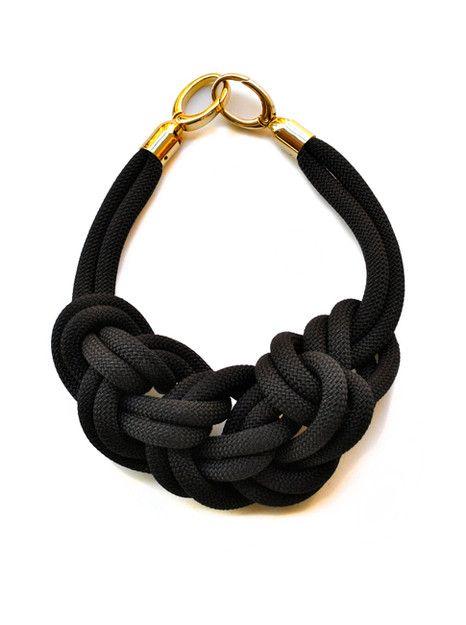black statment necklace