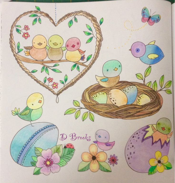 Cute Little Birds From Bold Springtime To Colour By Eleri Fowler