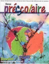 Pour lire des articles sur tous les sujets d'intérêt à l'éducation préscolaire: la revue Préscolaire! Vous pouvez vous abonner via le site de l'AÉPQ: www.aepq.ca