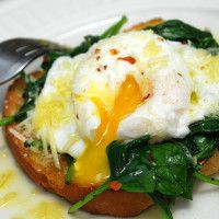 Poached Eggs over Spinach - Dr. Mark Hyman