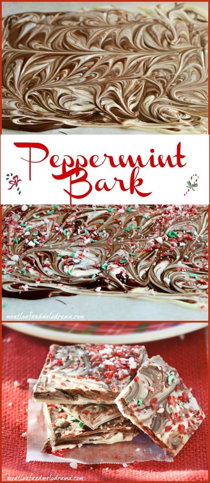 Peppermint Bark ~ An easy no-bake Christmas treat!
