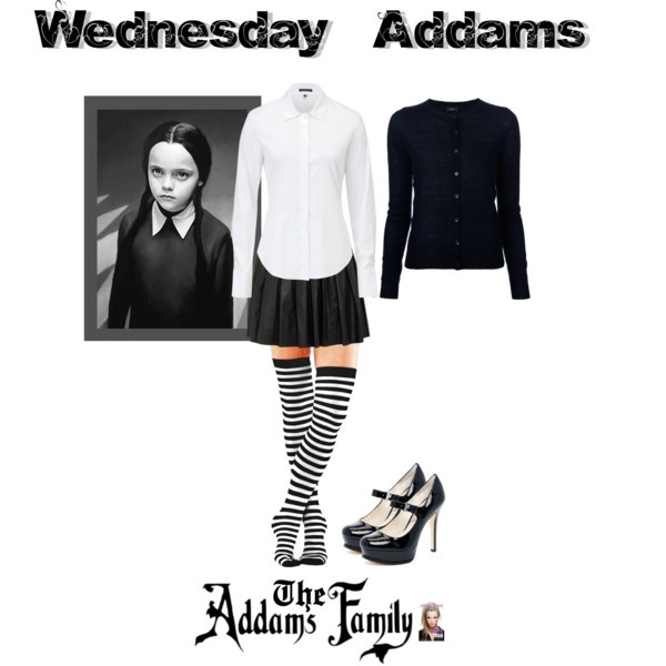 """""""DIY Wednesday Addams Halloween Costume"""" by jessicaleila on Polyvore"""