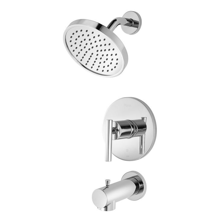 Pfister fullerton polished chrome 1 handle tub and shower - Lowes price pfister bathroom faucets ...