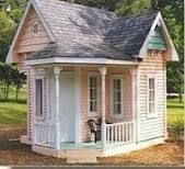 1000 images about playhouses on pinterest outdoor for Playhouse with garage plans