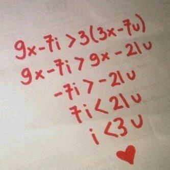 How to show your love to a math geek