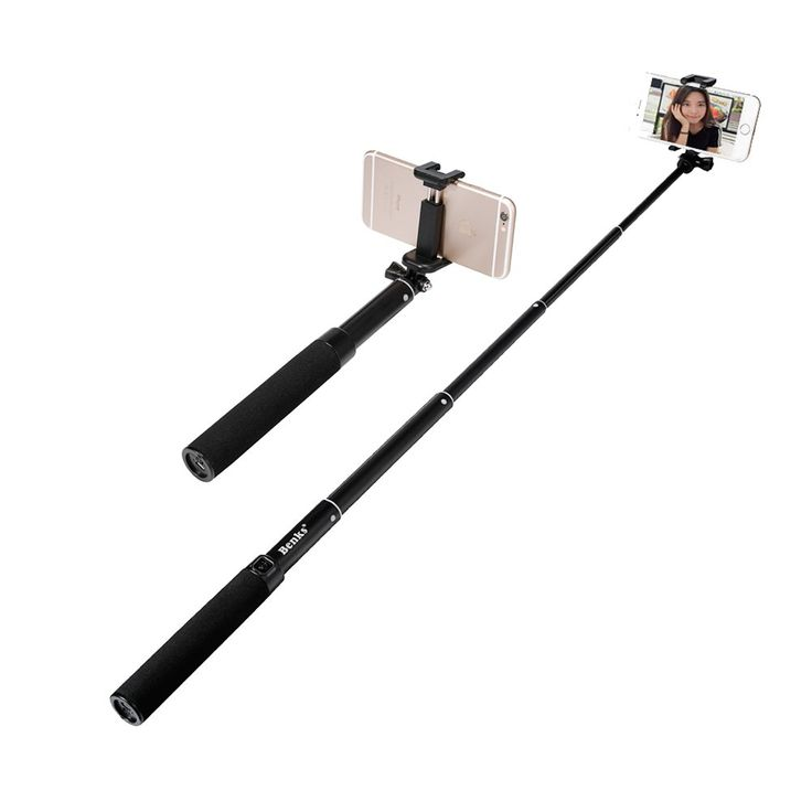 Amazon.com: Selfie Stick, Benks Pro 3-in-1 Self-portrait Monopod Wireless Bluetooth Selfie Stick with Built-in Bluetooth Remote Shutter with Adjustable Phone Holder for Iphone 6, 6 Plus, 5 5s 5c 4s, Samsung S6(s6 Edge) and Other Smartphones (Extend Size(8.7-34.3Inch)-Black): Cell Phones & Accessories