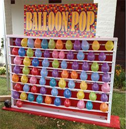 vintage balloon pop carnival booth - Google Search                                                                                                                                                      More