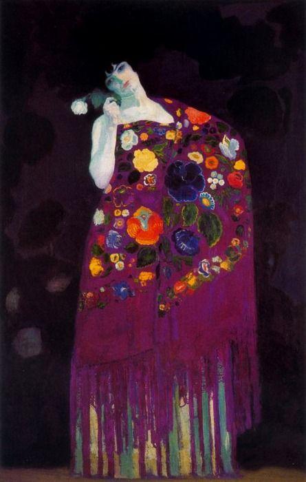 Granadina (Woman of Granada), Hermenegildo Anglada Camarasa, ca.1914... .......a rainbow of colors...