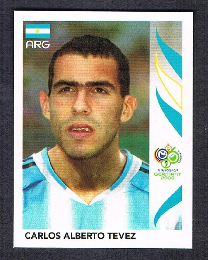 Image result for germany 2006 panini argentina tevez
