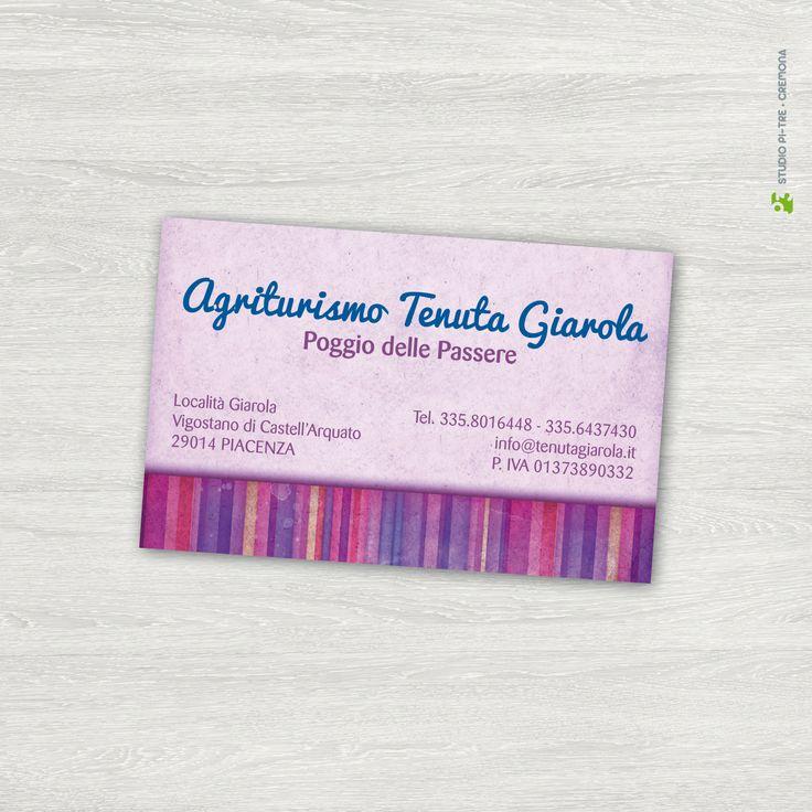 Biglietto da visita - business card Agriturismo Tenuta Giarola © Studio Pi Tre (Cremona - Italy)